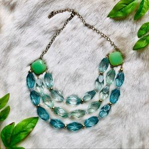 Statement Necklace ~Teal~
